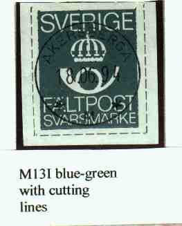 M13I blue-green with cutting lines