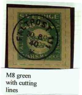 M8 green with cutting lines